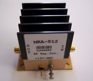 10-1000MHz-Hi-Rel-RF-Amplifier-15V-MRA-512-New-SMA