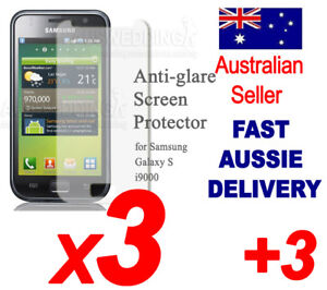 Anti-Glare Screen Protector Samsung Galaxy S i9000 3+1