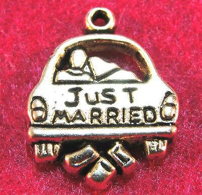 """Подвески 10Pcs. Tibetan Silver """"JUST MARRIED"""""""