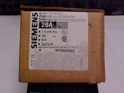 Nib-siemens 20a 3p Breaker B32000s01 Shunt Trip A-006