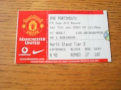 04/01/2003 Ticket: Manchester United v Portsmouth [FA C