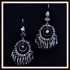 Crystal-Metal-Tassel-Dangle-Earrings