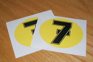 Barry Sheene Number 7 Decals (Pair)