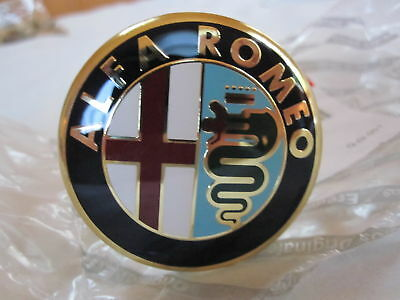 "ALFA ROMEO WHEEL EMBLEM SET OF 4 CENTER CAP 48MM ""OEM"""