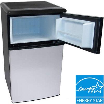 Mini Refrigerator Amp Freezer Stainless Steel Silver