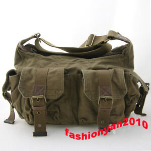 Vintage-Casual-Canvas-leather-Messenger-Shoulder-Bag
