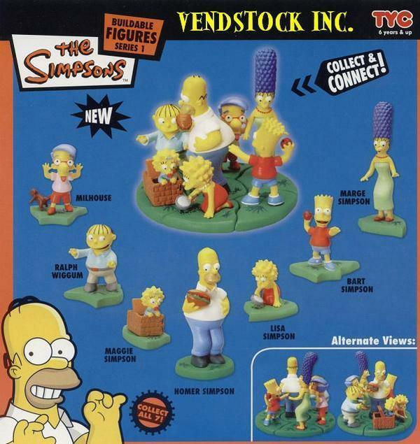 7 Retired Simpsons Buildable Mini Figures Cake Toppers Connect You Pick One