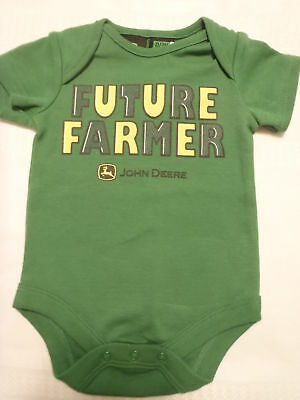 John Deere Baby Boys 6-9 Month Green Future Farmer Short Sleeve Bodysuit