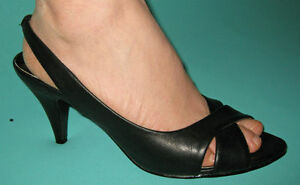 New-Women-Formal-Heels-Shoes-Black-Size-US-5-6-7-8-9-10
