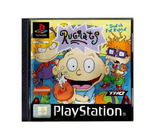 Rugrats-Search-for-Reptar-PS1-Game-Sony-PlayStation-1-Complete-with-Manual
