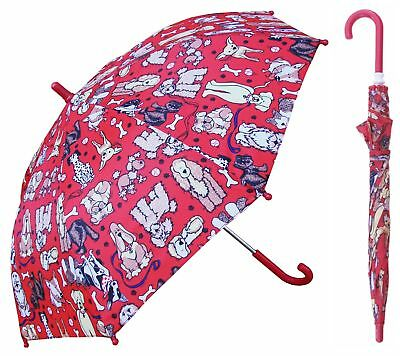 "32"" Children Kid Cute Dogs Umbrella - RainStoppers Rain/Sun UV"
