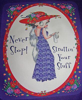 Purple T Shirt Betty Boop In A Red Hat & Purple Dress 2x