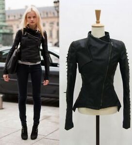 Runway-Lace-Up-Sleeve-Biker-Jacket-Synthetic-Leather-Co