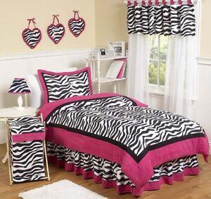Sweet jojo designs purple black and zebra print teen kids for Zebra print bedroom designs