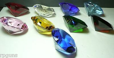 60 Mm Cut Glass Diamond Paperweight Choice 8 Colors Closed Out Discontinued Sale