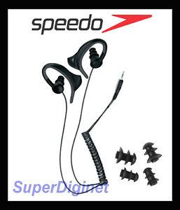 Speedo-Aquabeat-Waterproof-Headphone-Earphone-w-earbirds-for-MP3-iPhone-NEW