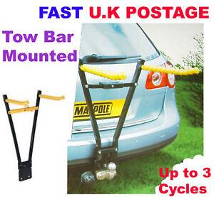 Rear-TowBar-Mount-3-Bike-Cycle-Bicycle-Carrier-Car-Rack