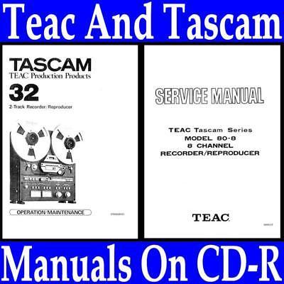 TASCAM TSR-8 OPERATION/SERVICE MANUAL ON CD-R