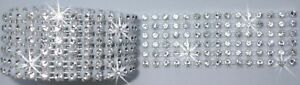 6strip WHITE 1F REEL rope chain ribbon diamante crystal