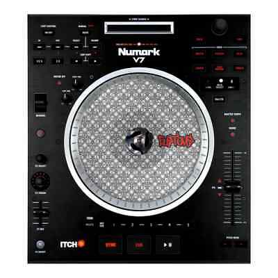 glowtronics 1 pair custom slipmats numark ns7 v7 ebay. Black Bedroom Furniture Sets. Home Design Ideas