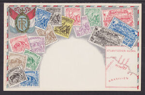 Zieher-92-unused-PPC-French-Guiana-Stamps-Embossed