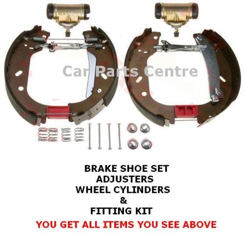 FOR FIAT SCUDO 1.9 2.0 TD JTD REAR DRUM BRAKE SHOES WHEEL CYLINDERS ADJUSTERS