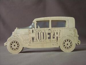 Model-A-Ford-Wood-Puzzle-Amish-Made-Antique-Car-Toy-NEW