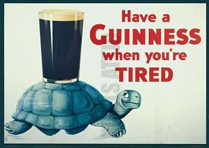 GUINNESS-TORTOISE-CLASSIC-A3-PRINTED-POSTER