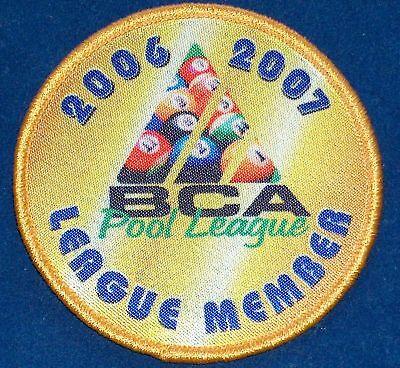 2006 07 Bca 8 Ball Pool League Player Member Patch