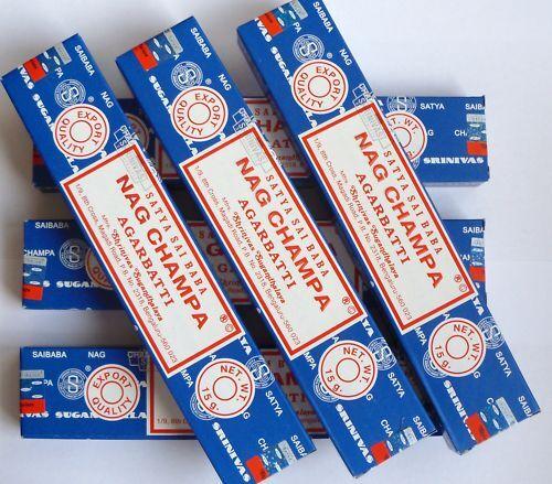 12x 15 Gramm Satya Sai Baba Nag Champa incense sticks Räucherstäbchen - aus 2016