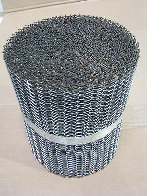 "Stainless Steel Wire Mesh Conveyor Belting 304 SS 11"" Wide x 1"" Sold By the Inch"