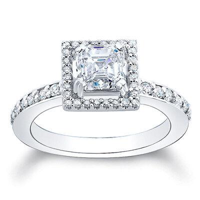 2.76ct Asscher Cut Diamond Engagement Ring GIA G/VS1  1