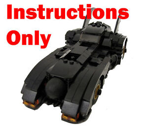 Custom INSTRUCTION BOOK Lego Batman Batmobile Batrocket 7781 7784 6864 6860 6857