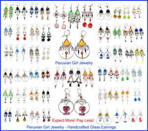 20-GLASS-EARRINGS-HANDMADE-BEAD-JEWELRY-WHOLESALE-PERU