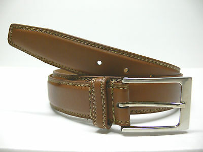 Men's Business Casual Jean Leather Belt Tan E15