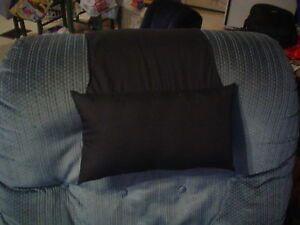 Details about black stay put recliner chair head and neck pillow