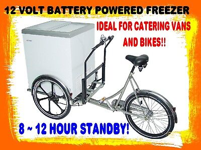 MOBILUX BATTERY POWERED PORTABLE ICE CREAM FREEZER FOR BIKE MOUNTING