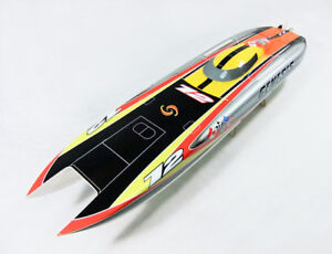 NEW-Bare-Hull-Genesis-Fiberglass-Boat-RC-Catamaran-for-Electric-or-Nitro-Setup