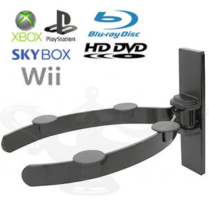 SKY BOX CD DVD MP3 Wii XBOX PS3 Wi-Fi Universal Wall Shelf Shelves Mount Bracket