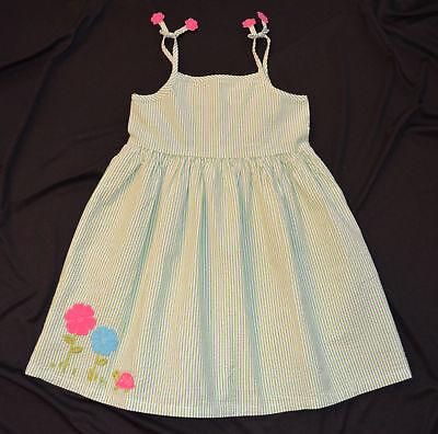 Gymboree Turtle Match Green Striped Sun Dress Or Top 4t 5t