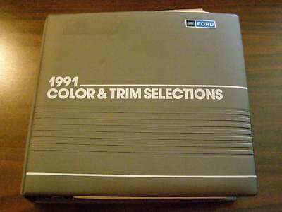 Ford Dealers Product Guide 1991 Color + Trim Book