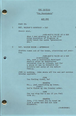 "THE WALTONS show script ""The Caretakers"""