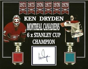 KEN-DRYDEN-MONTREAL-CANADIENS-AUTO-SIGNED-CUT-8x10-PHOTO-W-FORUM-RED-BLUE-SEAT