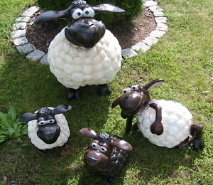 Kit de 4 original nuage dans moutons decoration jardin mouton personnage animal d w collection - Deco jardin mouton toulon ...
