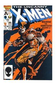 Uncanny-X-Men-212-1st-Series-Marvel-1986-FN-Wolverine-vs-Sabretooth