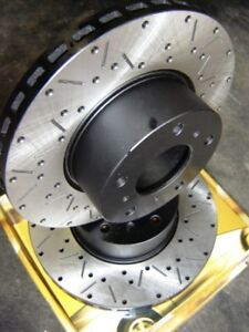 CROSS DRILLED & SLOTTED Ford FG XR6 TURBO FG XR8 XR6T FRONT Disc Brake Rotors