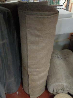 "1M Natural hessian jute sack fabric SOLD / METRE 54"" WIDE upholstery - garden"