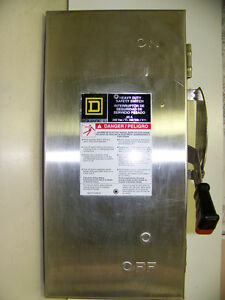 H321DS-Square-D-Stainless-Steel-30A-3W-240V-New-No-Box