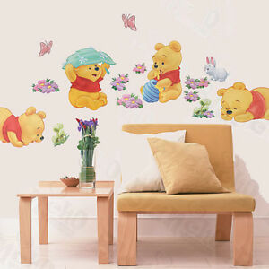 Details About Winnie The Pooh Nursery Room Wall Decal Decor Stickers