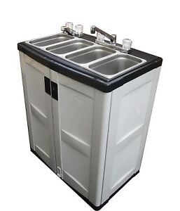 Portable 3 Compartment Sink Ebay
